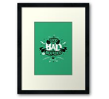 THE GOOD THE BAD AND THE BEARDED full green Framed Print