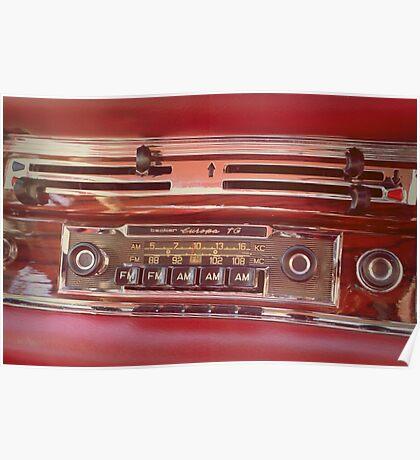 Retro car radio Poster