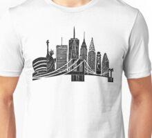Linocut New York Unisex T-Shirt