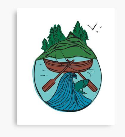 Boat gone fishing Canvas Print