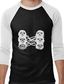 Ghost Panda Party Men's Baseball ¾ T-Shirt