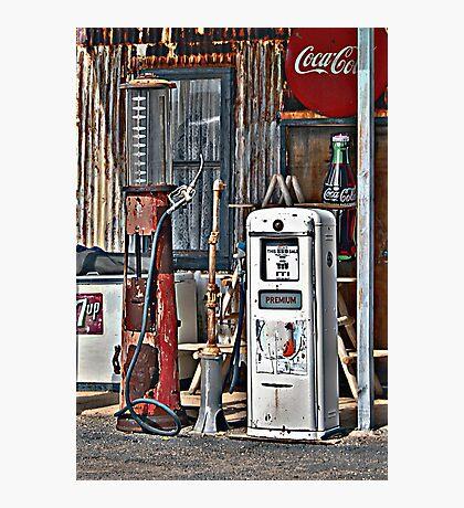 Vintage Gas Pumps Photographic Print