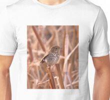 Hermit Thrush on Cattails Unisex T-Shirt