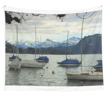 Let's Go Sailing Amongst the Mountains Wall Tapestry