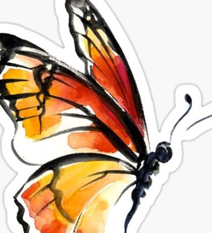Watercolor Butterfly Sticker