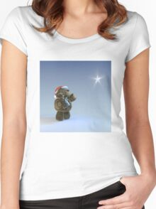 Magical Christmas Star Women's Fitted Scoop T-Shirt