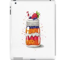 Strawberry and Blueberry shortcake in a jar iPad Case/Skin