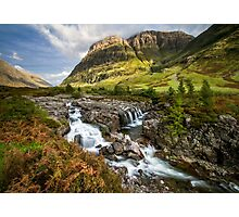 Falls of Glencoe Highlands of Scotland Photographic Print