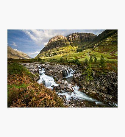 Falls of Glencoe Highlands of Scotland Photographic Print
