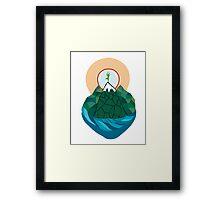 yoga time Framed Print