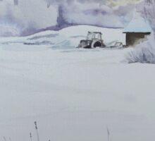 Winter Blanket Season's Greetings blue text Sticker