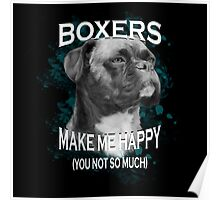 Boxer Dog Lovers Art Text  Poster