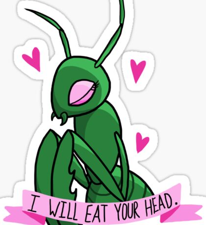 I Will Eat Your Head Sticker