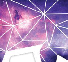 Galaxy Geometric Bear Sticker