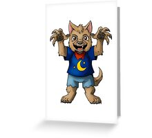 Little Werewolf Greeting Card