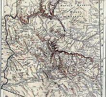 Vintage Map of Arizona (1911) by BravuraMedia