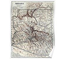 Vintage Map of Arizona (1911) Poster
