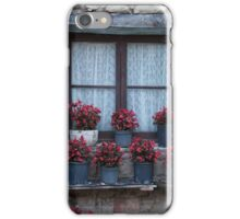 Geraniums on a Catalan window  iPhone Case/Skin