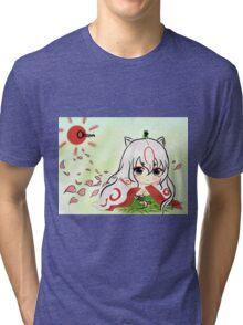 Chibi Amaterasu Okami Tri-blend T-Shirt