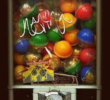 Gumball Machine Series - with Graffiti Burst - Iconic New York City by Miriam Danar