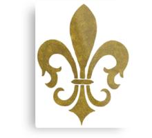 Golden Fleur-de-lys Metal Print