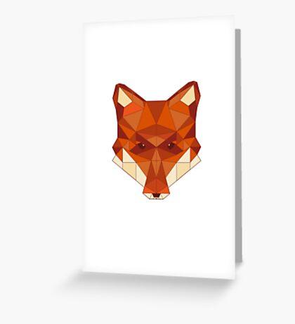 Geometric Fox Greeting Card