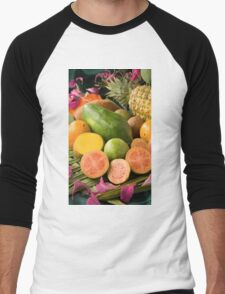 Tropical Fruit  Men's Baseball ¾ T-Shirt