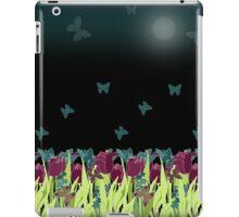 Red tulips in the night. iPad Case/Skin