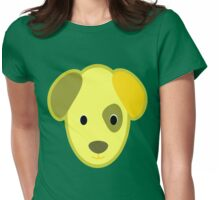 Golden Cartoon Puppy Dog Face Womens Fitted T-Shirt