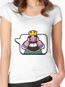 Funny Reaction - Clash royale Women's Fitted Scoop T-Shirt