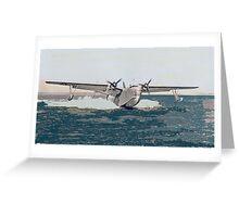 "Martin PBM-3 ""Mariner"" on Test Flight Greeting Card"