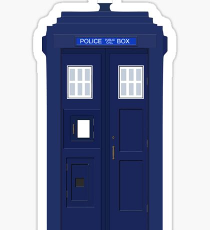 Police Public Call Box (Blue Tardis) Sticker