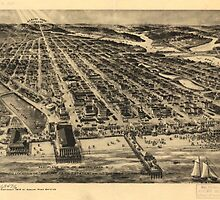 Vintage Pictorial Map of Asbury Park NJ (1910) by BravuraMedia