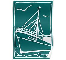 Trawlers Ross Tiger in Turquoise Poster