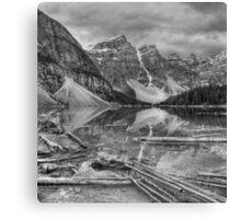 Moraine Rocks in grey Canvas Print