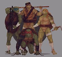 Turtle Gang By JBadgr by Jessica Byrnes Cheong