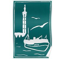 Trawlers - Home in Turquoise Poster