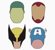 Super Heroes Kids Tee