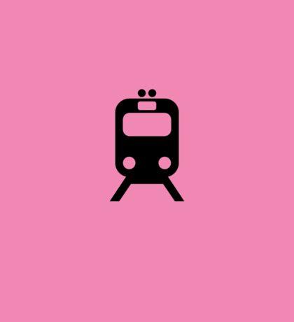 Pink Link Chicago CTA Inspired Minimalism Design Sticker
