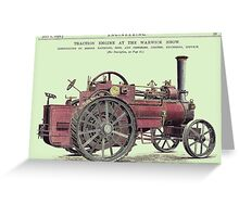 Ransome Steam Engine, 1892 Greeting Card