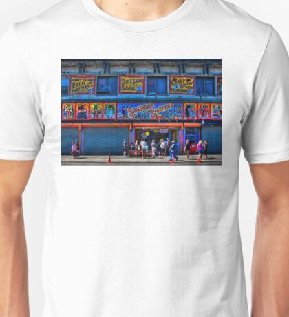Sidestreet Sideshows, Freaks, Geeks and Creeps at Coney Island, New York Unisex T-Shirt