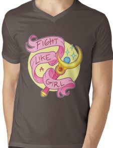 Sailor Moon - Fight like a girl! Mens V-Neck T-Shirt