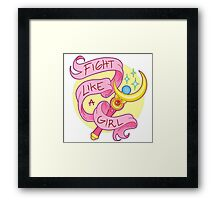 Sailor Moon - Fight like a girl! Framed Print