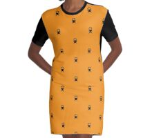 CTA Inspired Orange Line Chicago Minimalist Pattern Graphic T-Shirt Dress