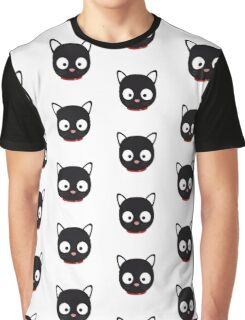 Cute black cat with red collar Graphic T-Shirt