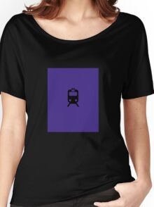 CTA L Inspired Purple Line Chicago Minimalist Print Women's Relaxed Fit T-Shirt