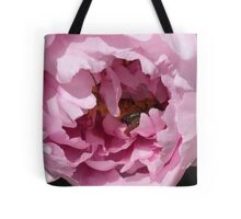 Peony with Bee Tote Bag