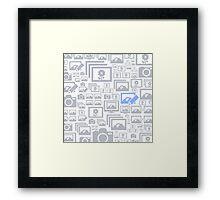 Photo a background Framed Print