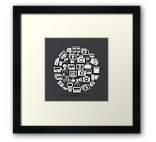 Photo circle Framed Print