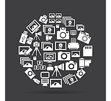 Photo circle Photographic Print